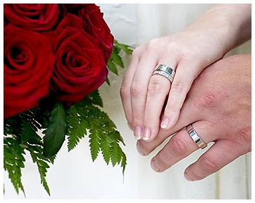 Brudbukett och ringar